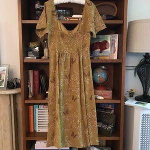 Madewell Flutter Sleeve Midi Dress